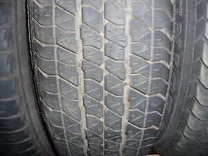 2 pneus d'été, 195/70/14, Dunlop, SP40, 35% d'usure, mesure 6/32.
