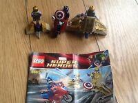 LEGO MARVEL CAPTAIN AMERICA SET 6865 100%COMPLETE