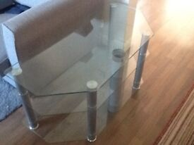 Glass TV unit excellent condition !