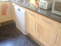 Kitchen units for sale light wood effect doors LOCAL FREE DELIVERY