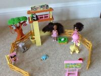 Barbie's sisters (Shelley dolls) with playsets - zoo, funfair, playground, bedroom , accessories