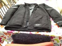 Mens Alpinestars waterproof textile jacket - £65