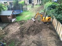 BMS Groundworks Man and machine Mini Micro digger dumper hire Excavator driver Demo Watford Bushey