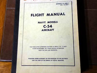Douglas USAF C-54, EC-54. HC-54, TC-54 & NAVY C-54 Aircraft Flight Handbook