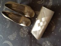 Shoes and matching bag, ideal for bride / wedding