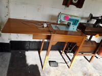 Vintage SINGER sewing machine Copley Mill LOW COST MOVES 2nd Hand Furniture STALYBRIDGE SK15 3DN