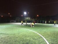 Friendly football in Beckton, East London. Looking for new players!