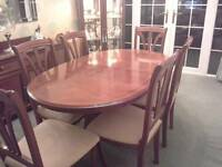 Dining extendable table & 6 chairs