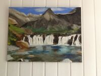 OIL PAINTING OF FAIRY POOLS ISLE OF SKYE