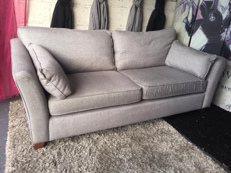 Marks And Spencer Fenton Large 3 Seater Sofa In Jersey Chenille Fc Grey