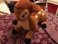 Large bambi soft toy