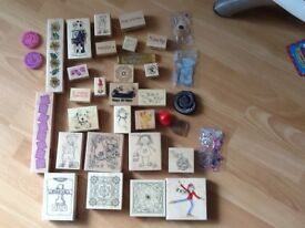 Crafting rubber stamps job lot