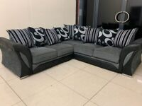 Offer your choice ❄️BRAND NEW❄️ SHANNON BLACK AND GREY Corner Sofa And 3+2 Seater SofaAVAILABLE