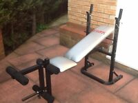 NEVER USED! * GREAT CONDITION - Weights Bench & Leg Curler
