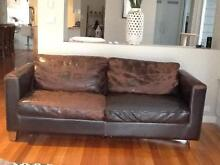 FREE 2 x LEATHER 3 SEATER LOUNGES Parkdale Kingston Area Preview