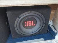 jbl sub and t1 audio amp