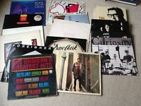 Box of 50 plus LP's and singles, mostly early groups