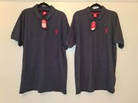 *Quick Sale* Brand New Mens Size Large Official Liverpool Navy Polo Shirts £22 Tags - 2 Available