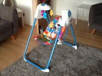 Fisher Price Fold & Stow Baby Swing, excellent condition