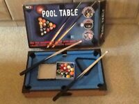 Mini wooden pool table solid piece
