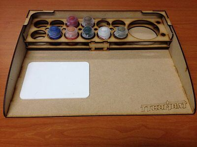 TTCombat - STACIT - Paint Station with Citadel Tamiya Size Rack & Mix Palette