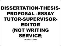 Dissertation tutor, coach, support, help, guidance/Proposal/Essay/Assignment/Proofreading/PhD thesis