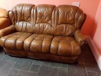 Beautiful Italian leather sofa in very good condition