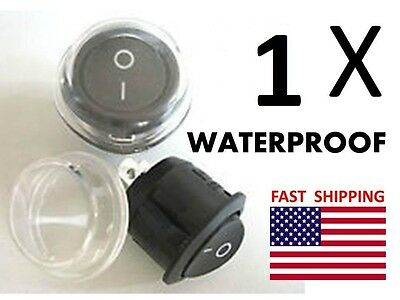 1 Qty Waterproof - Switch - Spst Toggle 2 Wire Hookup Simple 12v Dc Dash Marine