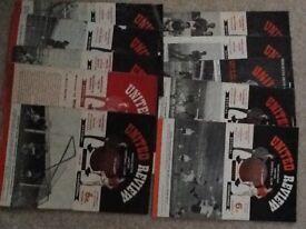 10 X. 1960's Manchester United Programmes