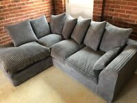 BRAND NEW DYLAN JUMBO CORD CORNER SOFA AVAILABLE IN THREE AND TWO'S AS WELL ORDER NOW