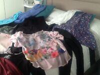 Bungles of women's clothes