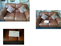 TAN HYDE 2 SEATER SOFA ULTIMATE COMFORT AND MODERN REALLY GOOD QUALITY LEATHER AND SOLID STRUCTURE