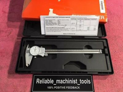 Excellent Mitutoyo 8 Inch Dial Caliper 505-676-d8tn Machinist Tools
