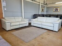 Harvey's Italian leather power electric recliner sofas