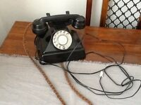 Bakelite 1940s telephone fully converted.