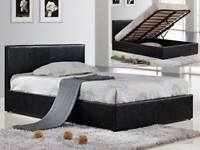 🔺Imported Furniture🔺4ft6inch Double & 5ft King Size Leather Storage Bed Frame With Opt Mattress-