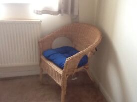Wicker Chairs with cushions