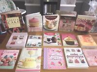 Cake decorating, cupcakes, baking tutorial books