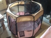 One fabric pet playpen for indoor or outdoor use - brand new