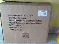 Concealed duel flush cistern. Brand new boxed