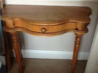 Pine kidney shaped table