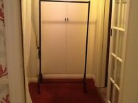 Black heavy duty clothes rail