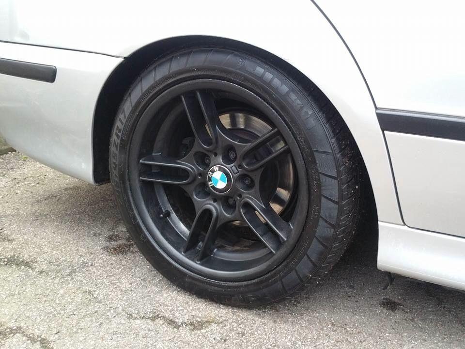 17 Inch Black Bmw E39 5 Series Staggered Style 66 Alloy Wheels Amp Tyres E36 E38 Mv2 E34 E60