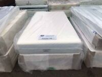 🔥🔥Cheapest Guaranteed🔥🔥 DOUBLE DIVAN BED BASE WITH LUXURY SPRUNG MATTRESS & FAST DELIVERY