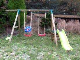 **IDEAL CHRISTMAS PRESENT** Wooden climbing frame with slide