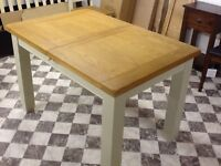SOLID OAK PAINTED EXTENDING TABLE