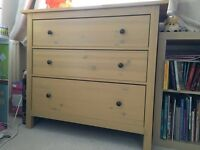 IKEA Hemnes 3-drawer chest of drawers. Yellow pine.