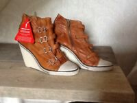 Ash leather boots bnwt