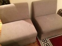 FREE furniture - two comfortable chairs also can be used as a sofa