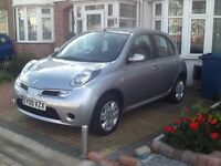 NISSAN MICRA AUTOMATIC +5DOOR +ONLY 9900 low. MILEAGES +Full HPI CLEAR + FULL SERVICE HISTORY.....